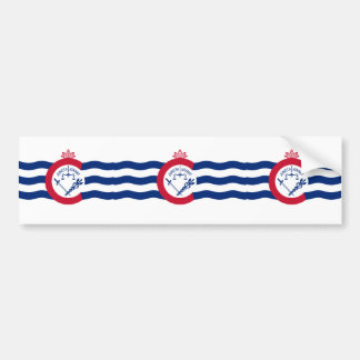Cincinnati, Ohio, United States flag Bumper Sticker