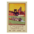 Cincinnati on the Ohio Gateway to the South Poster