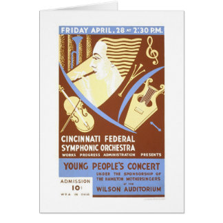 Cincinnati Orchestra 1939 WPA Card