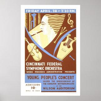 Cincinnati Orchestra 1939 WPA Poster