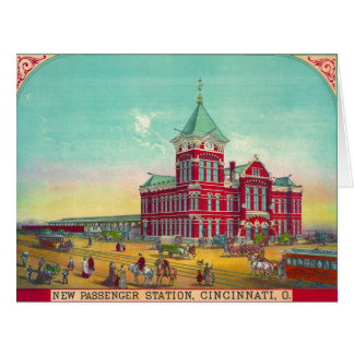 Cincinnati Railroad Station 1881 Card