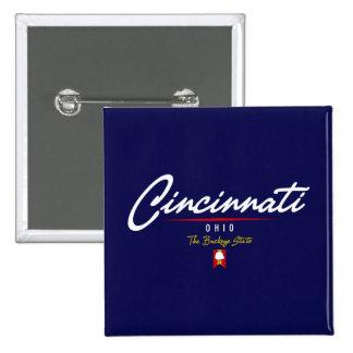 Cincinnati Script Pinback Buttons