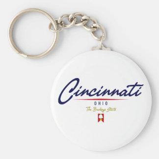 Cincinnati Script Keychain