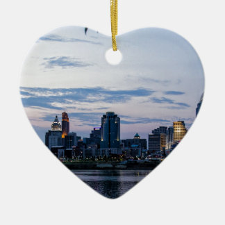 Cincinnati Sky Line Ceramic Ornament
