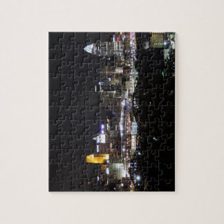 Cincinnati skyline at night jigsaw puzzle