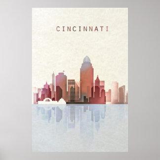 Cincinnati Skyline, Cincinnati Poster, Ohio Art Poster