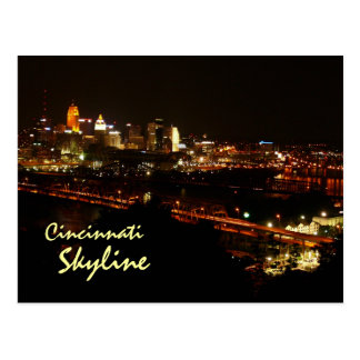 Cincinnati Skyline Postcard