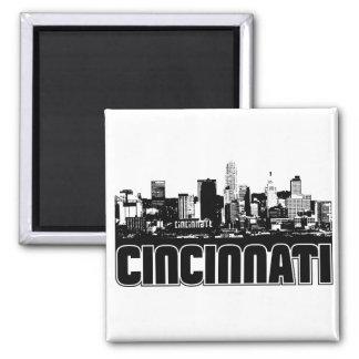 Cincinnati Skyline Square Magnet