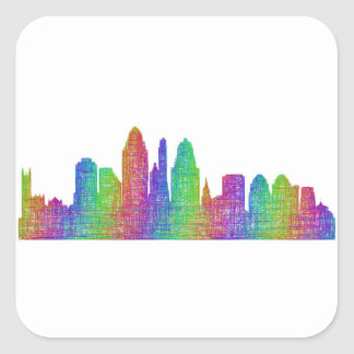 Cincinnati skyline square sticker