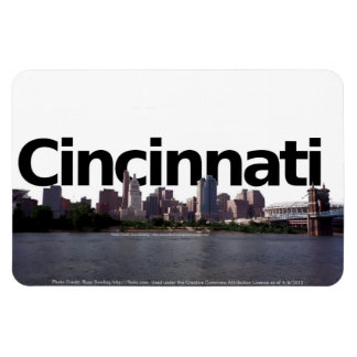 Cincinnati Skyline with Cincinnati in the Sky Magnet