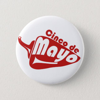 Cinco De Mayo 2 Inch Round Button