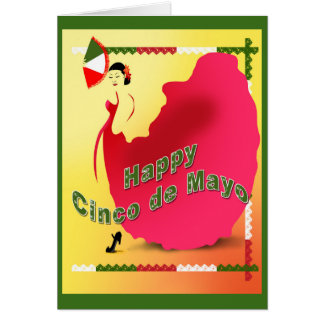Cinco de Mayo 5x7 horz Greeting  Card