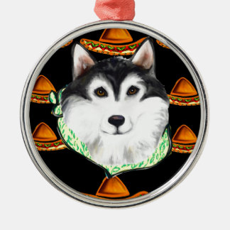 CINCO de MAYO  Alaskan Malamute Metal Ornament