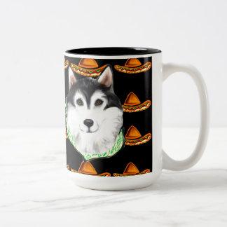 CINCO de MAYO  Alaskan Malamute Two-Tone Coffee Mug