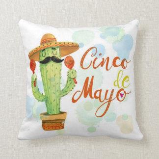 Cinco De Mayo Cactus Throw Pillow