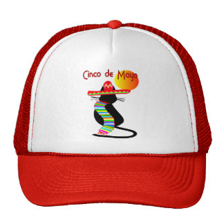 Cinco de mayo CAT Design--Adorable Trucker Hat