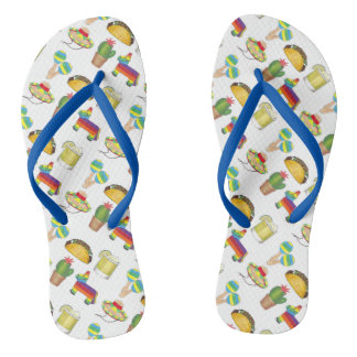 Cinco de Mayo Celebration Fiesta Party Print Flip Flops