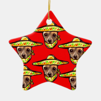 Cinco De Mayo Chihauhaus Ceramic Star Ornament
