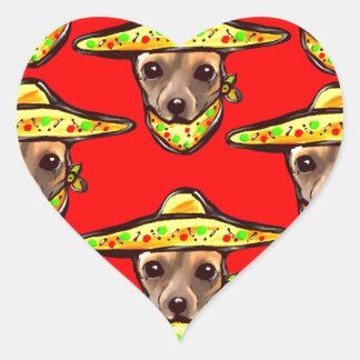 Cinco De Mayo Chihauhaus Heart Sticker