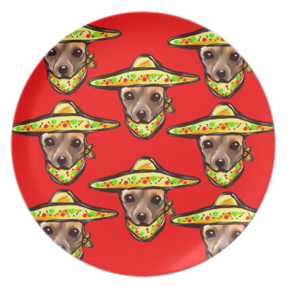 Cinco De Mayo Chihauhaus Party Plate