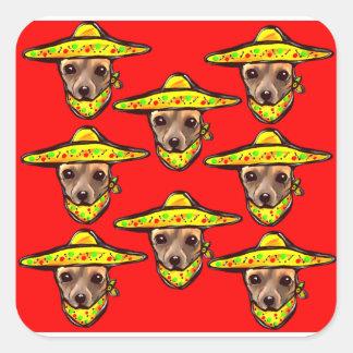Cinco De Mayo Chihauhaus Square Sticker