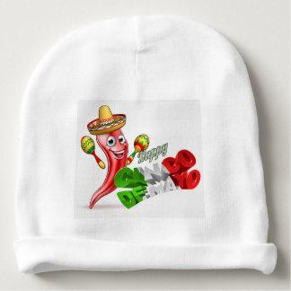 Cinco De Mayo Chilli Pepper Design Baby Beanie