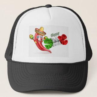 Cinco De Mayo Chilli Pepper Poster Design Trucker Hat
