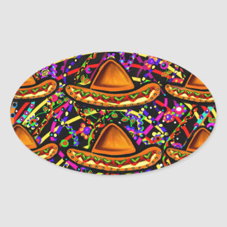 Cinco de Mayo Design Oval Sticker