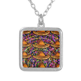 Cinco de Mayo Design Silver Plated Necklace