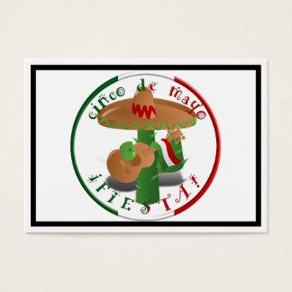 Cinco De Mayo Fiesta!  Cactus with Sombrero Business Card