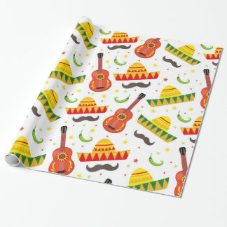 Cinco de Mayo Fiesta in Mexico holiday Wrapping Paper