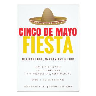 Cinco de Mayo Fiesta Party Invitations