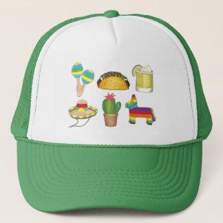 Cinco de Mayo Fiesta Pinata Taco Cactus Maracas Trucker Hat