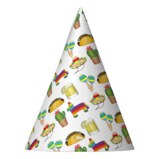 Cinco de Mayo Fiesta Taco Pinata Margarita Maracas Party Hat