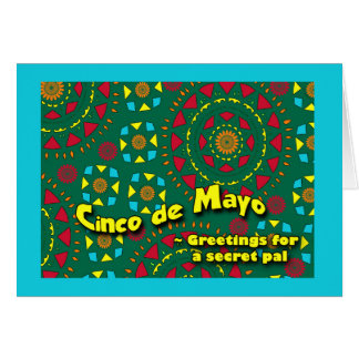 Cinco de Mayo for Secret Pal, Colorful Mosaic Greeting Card
