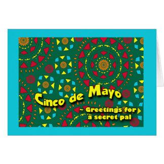 Cinco de Mayo for Secret Pal, Colorful Mosaic Greeting Card