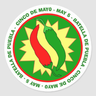 Cinco de Mayo Hot Peppers Sticker