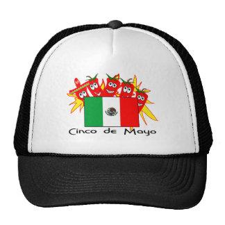 Cinco de Mayo MEXICAN FLAG Hats