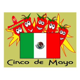 Cinco de Mayo MEXICAN FLAG Postcard