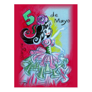 Cinco De Mayo Mexican Flamenco Dancer Postcard