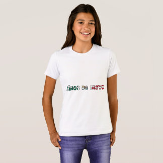 Cinco de Mayo Mexico Mexican Flag Color Typography T-Shirt