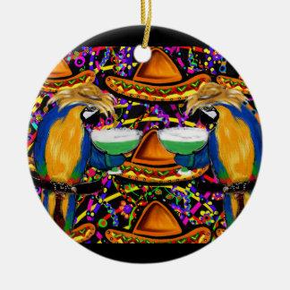 Cinco De Mayo Party Parrots! Ceramic Ornament