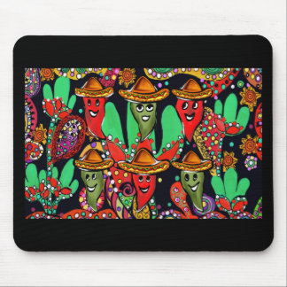 Cinco de Mayo Peppers Mouse Pad