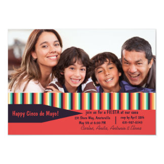 Cinco de Mayo Photo Stripes Card