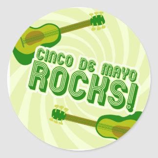Cinco de Mayo Rocks! Classic Round Sticker