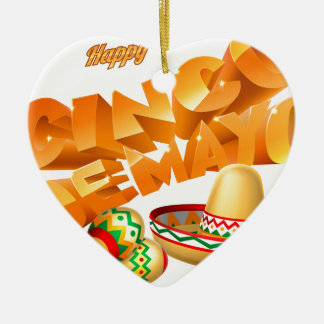Cinco De Mayo Sign Ceramic Ornament