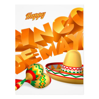Cinco De Mayo Sign Postcard