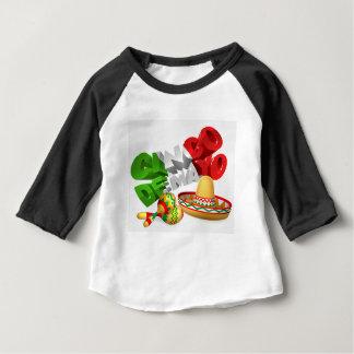 Cinco De Mayo Sign With Sombrero and Maracas Baby T-Shirt