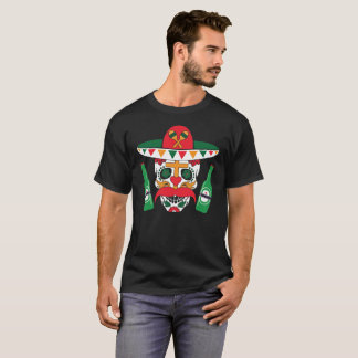 Cinco De Mayo Skull Tequila Colorful Tee