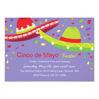 Cinco de Mayo Sombrero Fiesta Invitations